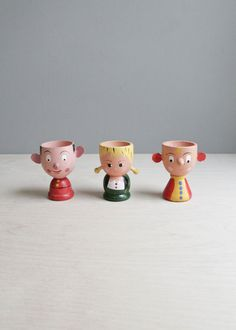 vintage egg cup trio by ohalbatross on Etsy -if my breakfast came in one of these it would have to be a happy day