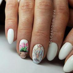 90+ Best tulip nail art design 2018