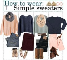 """""""How to wear: Simple sweaters."""" by teenage-to-teenage-tips-xo ❤ liked on Polyvore"""