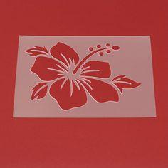 Schablone Hibiskus Blüte Blume - MF11 von Lunatik-Style via dawanda.com