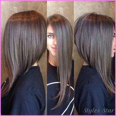 nice Long bob haircuts side view