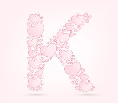 Font of hearts vector illustration vector art illustration