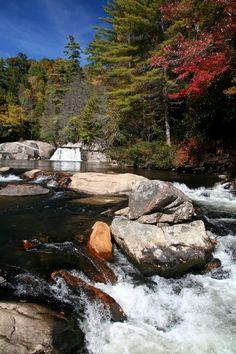 Crabtree Falls Blue Ridge Parkway   ... / Upper Falls at Linville Falls, Blue Ridge Parkway, North Carolina