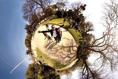 Come creare l'effetto tiny planet del video Buon Viaggio