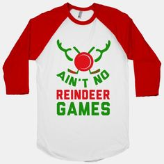 Hockey: It' Ain't No Reindeer Games #hockey #sports #funny #game #holidays #puck #reindeer