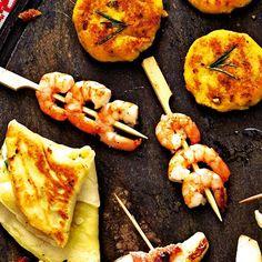 Ingwer-Garnelen-Spießchen - für Raclette