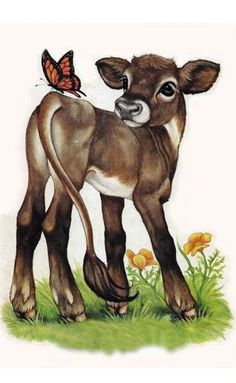 robin james painting - calf n butterfly Animal Paintings, Animal Drawings, Art Drawings, Cow Art, Horse Art, Cow Painting, Painting & Drawing, Cow Drawing, Robin James