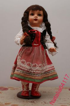Редкая кукла Адам Шраер. Довоенная. Польша