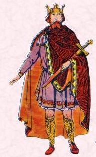 Clothes worn by upper class British men around 700 CE.
