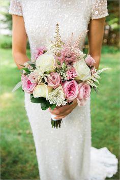 rose wedding bouquet     we ❤ this!  moncheribridals.com  #weddingbouquet #pinkwedding