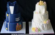 His+and+Her+Wedding+Cakes   His and Her Wedding Cakes