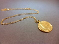 SALE Real Indian Head Penny Coin Pendant Necklace  by Magicloot, $38.22