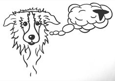 #dailysheepscetches Sheep Drawing, Border Collie, Moose Art, Snoopy, Drawings, Animals, Fictional Characters, Animales, Animaux