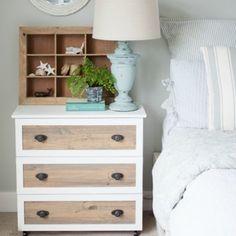 Turn cheap ikea dressers into beautiful night stands.