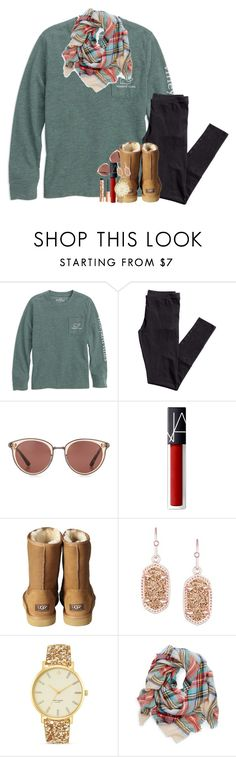 """Getting excited for Christmas!"" by pineappleprincess1012 ❤ liked on Polyvore featuring H&M, Oliver Peoples, NARS Cosmetics, UGG Australia, Kendra Scott, Kate Spade and Charlotte Tilbury"