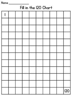 120 Chart Fill-In Puzzle Fun | Teachers Pay Teachers ...