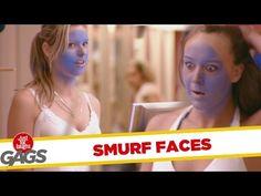 Smurf Tan Prank - Prank Videos - Just For Laughs Gags - Joke King Just For Laughs Gags, Prank Videos, Throwback Thursday, Pranks, Bring It On, Jokes, Entertaining, Contents, Face