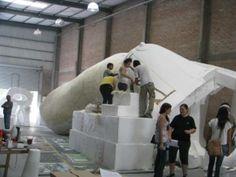 Diario de Cuyo - FNS: la imponente escultura del show final, lista en 7 días