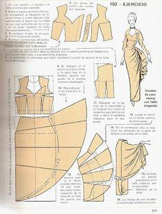 """Моделирование из """"Metodo Practico de Сorte y confeccion"""" Sewing Hacks, Sewing Tutorials, Sewing Crafts, Sewing Projects, Barbie Patterns, Dress Sewing Patterns, Clothing Patterns, Barbie Clothes, Sewing Clothes"""