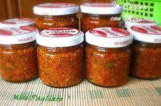 Piccantino calabrese-Home made Pesto Dip, Meals On Wheels, Antipasto, Vinaigrette, Chutney, Finger Foods, Italian Recipes, Nom Nom, Sausage