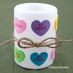 Make a Valentine Candle