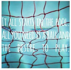 Once you've tried it! You never want to do anything else... #waterpolo