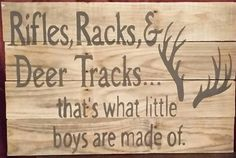 Rifles Racks and Deer Tracks that's what by PrimitivePaintings