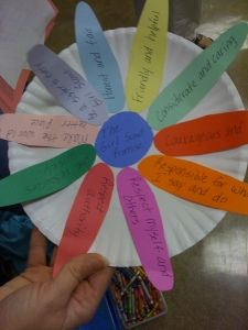 Daisy craft , every petal a fact about shavuot!