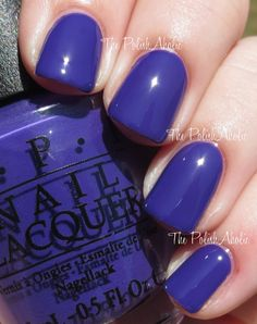 OPI: Do You Have This Color In Stock-Holm?- vampy, deep blurple (much more purple than the photo)- no streaking, good wear time, easy to remove. Opi Nail Colors, Purple Nail Polish, Opi Nail Polish, Opi Nails, Manicure, Nail Polishes, Cute Nails, Pretty Nails, August Nails