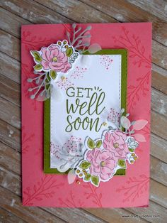 Today I am sharing a sweet Happy Hugs get well soon card made using the Healing Hugs and Happy Birthday to you stamp sets. Stamp Up, Healing Hugs, Wink Of Stella, Get Well Cards, Daffodils, Card Stock, Card Making, Happy Birthday, Feminine
