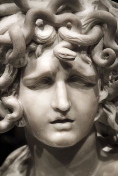 Medusa by Gian Lorenzo Bernini, 1630 Medusa Kunst, Medusa Art, Medusa Gorgon, Michelangelo, Bernini Sculpture, Angel Sculpture, Baroque Tattoo, Gian Lorenzo Bernini, Roman Art