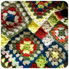 Granny Blanket - WoolnHook by Leonie Morgan Granny Square Blanket, Granny Squares, Easy Crochet Blanket, Patch, Crochet Projects, The Darkest, Blankets, How To Find Out, Corner