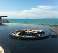 infinity pool. If I were rich (Patio Step Seating Areas)