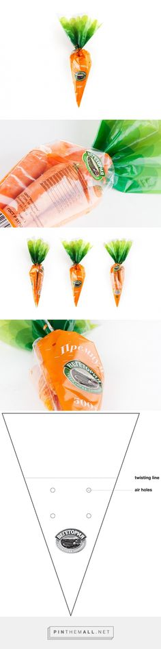 Vegetoria Carrot packaging design by Just Be Nice studio (Russia) - http://www.packagingoftheworld.com/2016/06/vegetoria-carrot.html