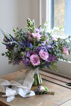 Lilac and blue spring bridal bouquet. Lilac and blue spring bridal bouquet. Hyacinth Wedding Bouquet, Lilac Wedding Flowers, Lilac Bouquet, Floral Bouquets, Floral Wedding, Wedding Bouquets, Lavender Bridal Bouquets, Freesia Bouquet, Small Bouquet