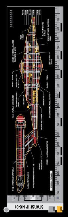 NX-01 cutaway, Enterprise '01-'05.