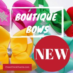 Launched last night! So excited to share. www.CheerChickCharlie.com #bows #boutiquebows #charliebows