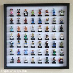LEGO Minifigure Display with IKEA Frames