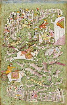 A princess hunting Possibly Hyderabad, Deccan, India, mid-18th century
