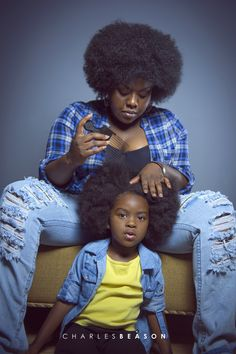 """♕ AFRODESIAC ETHNIC WOMEN OF CULTURE WORLDWIDE ♕ Mother and Daughter by: http://charles-beason.tumblr.com/"