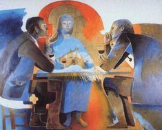 Emmaus The Visitation by French artist Arcabas (Jean-Marie Pirot, b. 1927)