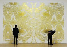 Richard Wright's gold-leaf mural. #turneyprize #art