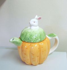 Colorful Carrot Easter Bunny Teapot Holds 28 ozs Asia Master Group | eBay