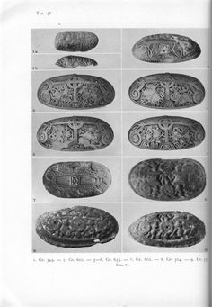 Holger Arbman - Birka I, tortoise brooches, graves 349, 602, 655, 504, 557.