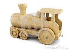 Resultado de imagen para locomotoras de madera para libros