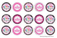 Birthday Princess Crowns Digital Download for 1 by MaddieZee