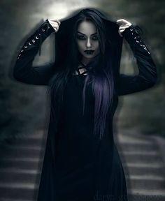 Gothic and Amazing: Photo Gothic Girls, Hot Goth Girls, Dark Gothic, Witch Fashion, Dark Fashion, Gothic Fashion, Women's Fashion, Goth Beauty, Dark Beauty