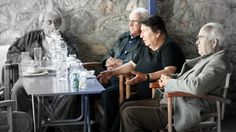 In Greece, elders are welcome to sit at a table in the taverna for hours.