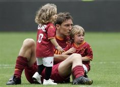 Francesco Toti and his son and daughter Chanel and Cristian