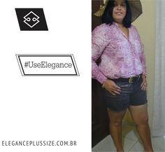 Shorts e Cinto Elegance Plus Size Coloque em suas fotos #UseElegance